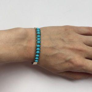 Kendra scott bracelet cuff turquoise gold stones